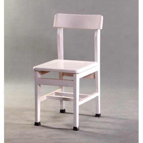 صندلی تمام چوبی سفید