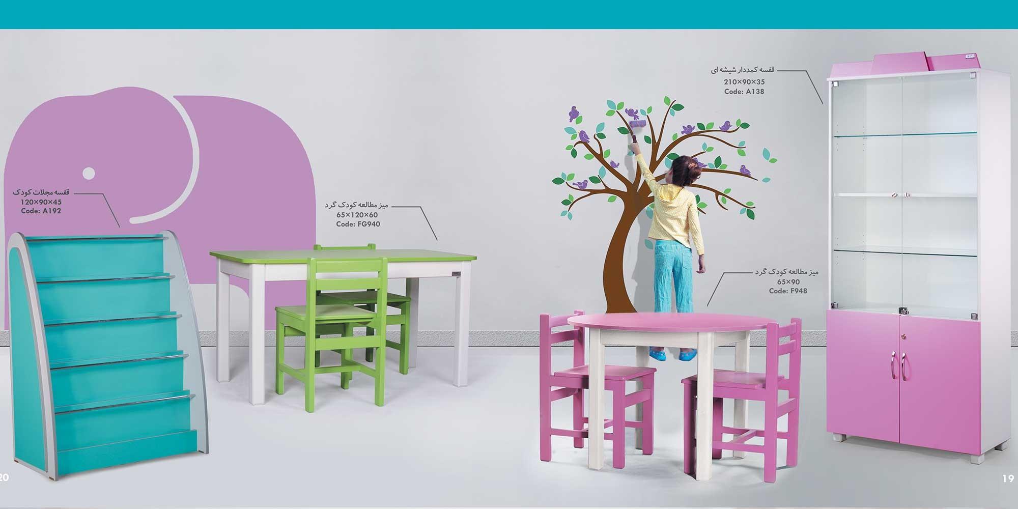 خرید میز تحریر کودک و صندلی کودک